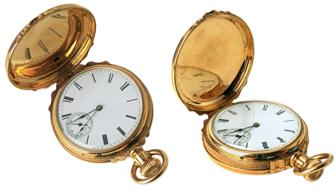 isolated pocket watch