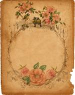 vintage background with frame in roses