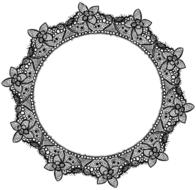 black and white round vintage frame