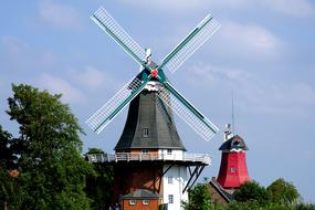 old windmills in Northern Germany