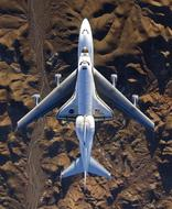 boeing 747 flies over the Mojave Desert, California