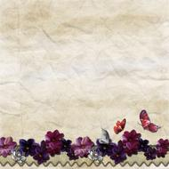 background paper with purple butterflies