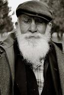 old bearded man in hat