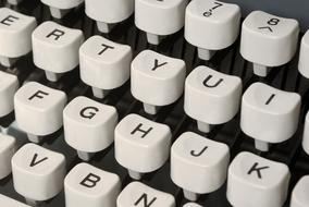 white typewriter machine
