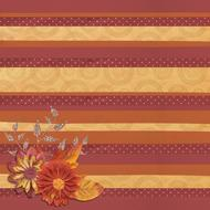 striped background with fall leaves