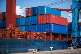Shipping Containers port Cargo