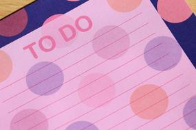 colorful to do list