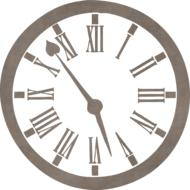 clock template for scrapbooking