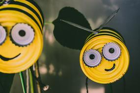 funny Bees, handmade garden decoration