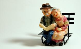 Casal Elderly people ceramic