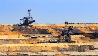 Open Pit Mining of brown coal