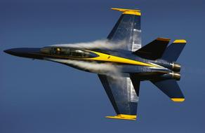 Blue yellow Angels Aircraft