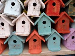 Bird House Vintage colors Decoration