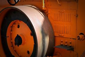 Steam Roller Construction orange