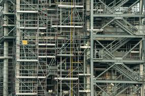 Industry Scaffolding lines of the building