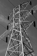 Pylon Electricity Power black and white