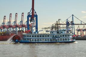 Hamburg Port Elbe ship