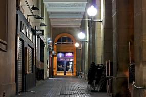 Street Alley Night lamps