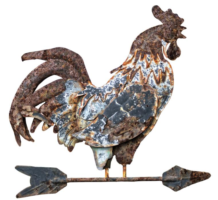 Weathered Weather Vane, rooster