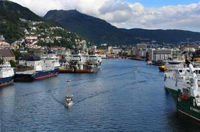photo of the seaport in Bergen, Norway