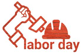 labor day worker red drawing