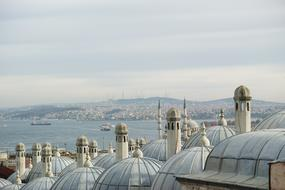 roofs of Istanbul, Turkey