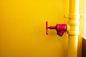 Pipe Red yellow