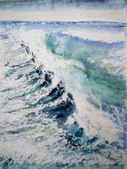 painting sea wave drawing