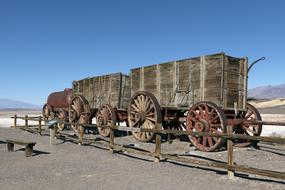 Wagons Death Valley Desert