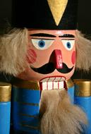 Nutcracker Wood Figure face