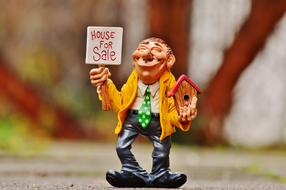 Real Estate Agents clay figure