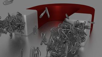 magnet paper clip red white