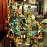 ceramic statues of courtesans in China