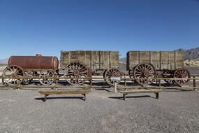 Borax Wagons Death Valley Desert