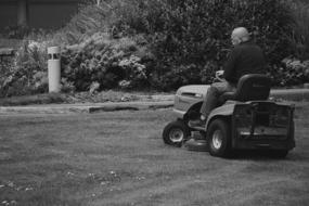Black And White pholto of Lawn mover