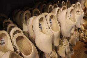 traditional Wooden Shoes Clogs in Netherlands