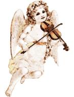angel drawing violin drawing