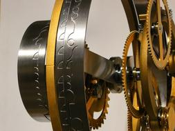 close-up of gears in the clockwork