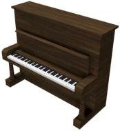 3d brown piano