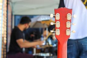 one red Guitar