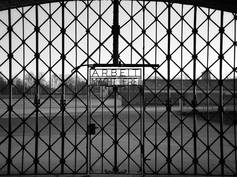 door of Dachau concentration camp
