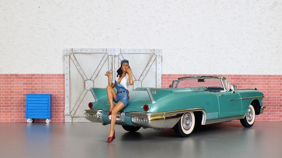 model and classic Cadillac