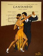 advertisement poster for tango performance