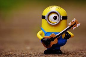 Minion with Guitar toy