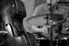 Jazz Double Bass black and white