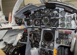 dashboard in Cockpit of Fighter Aircraft