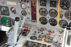 gauges in Cockpit of Fighter Aircraft