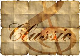 old paper with word classic