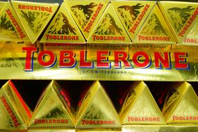 stack of Toblerone Chocolates