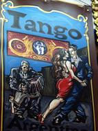 Painted Argentina tango drawing